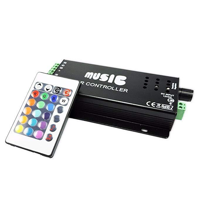 Bộ điều khiển LED Agfri với điều khiển từ xa hồng ngoại và chức năng nhịp điệu âm nhạc