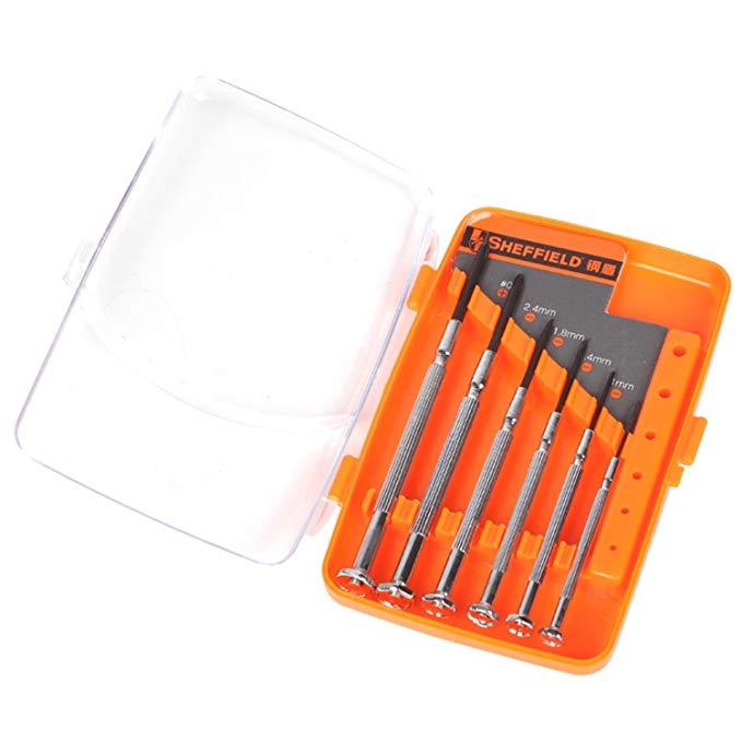 SHEFFIELD Thép Lá Chắn-piece kim loại chính xác screwdriver Xem và đồng hồ công cụ sửa chữa hình Chữ