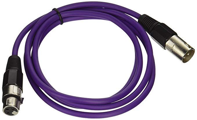 Dây cáp kết nối Âm thanh SEISMIC - SAXLX-6-6 / Màu tím XLR .