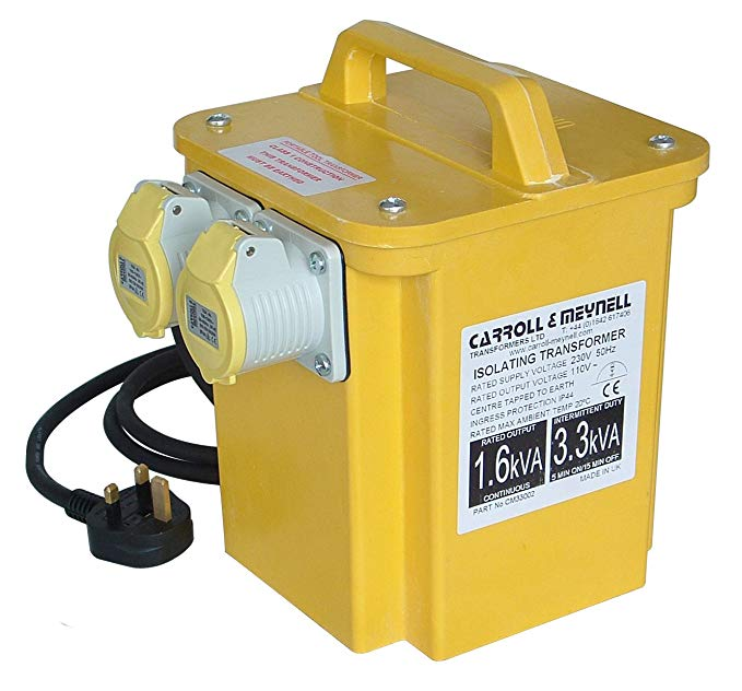 Máy biến áp ổ cắm kép Carroll & Meynell 3300/2 3.3 Kva C / M33002