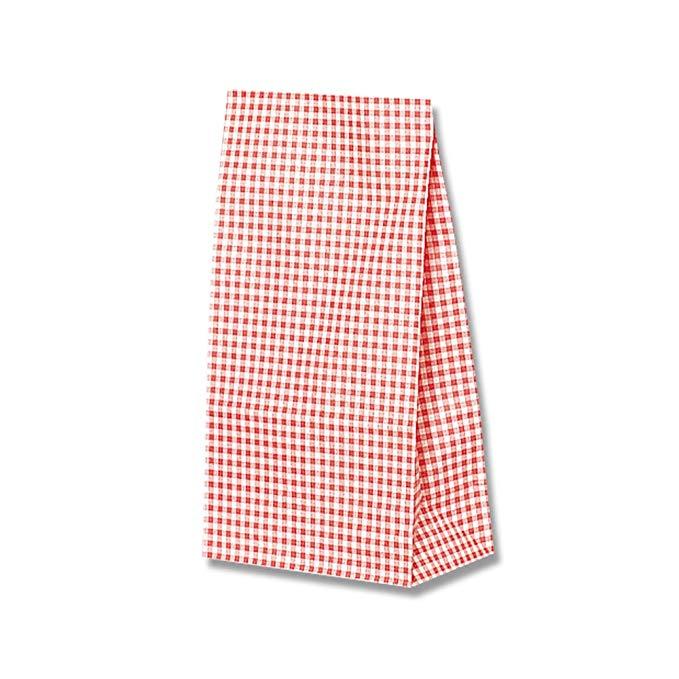 Heiko túi giấy đáy vuông túi số 6 sọc nhỏ màu đỏ 15x9x28cm 100 gói