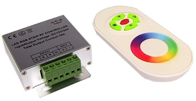 Bộ điều khiển dải LED RGB 18A Điều khiển từ xa RF (C)