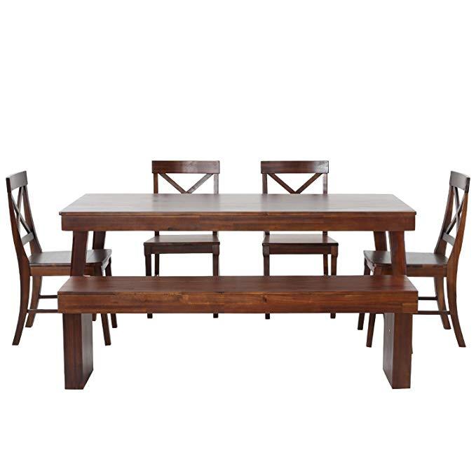 Bán chạy nhất Việt Nam nhập khẩu gỗ rắn bàn ăn và ghế kết hợp phòng ăn đồ nội thất 1.8 mét một bảng