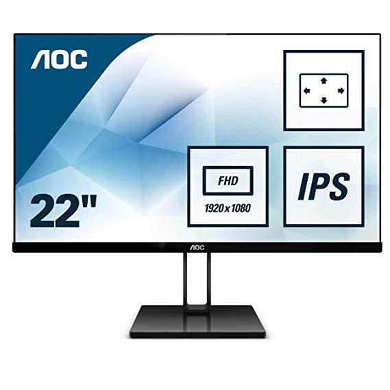 Màn hình LCD VGA AOC 22V2Q 54,6 cm - Đen