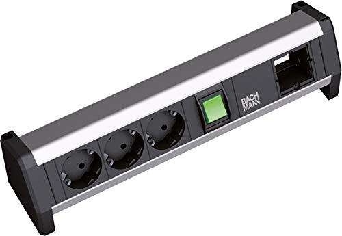 Công tắc Bachmann DESK 1, bảng điều khiển 3xSchuko & 1 mô-đun GST18, 902.017
