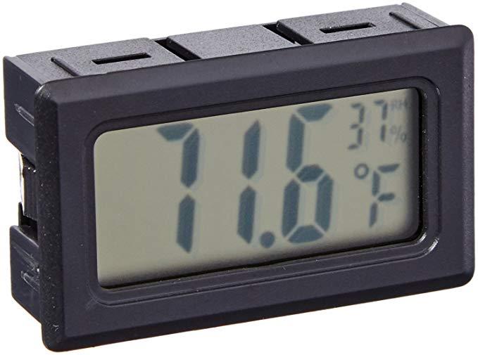 Avianweb nhiệt kế kỹ thuật số máy đo độ ẩm, mini, màu đen