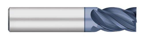 Titan VI-Pro biến chỉ số rắn Carbonized End Mill, Square End, hàn phẳng, 4 miếng 1/2 inch cắt đường