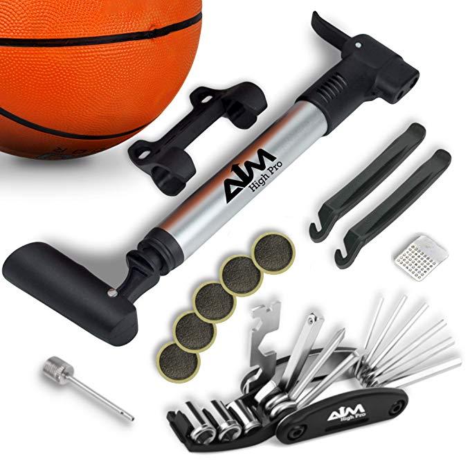 Mục đích cao Pro Khung xách tay gắn Mini Bike Pump cho Presta & Schrader - Sửa chữa xe đạp Kit - Côn