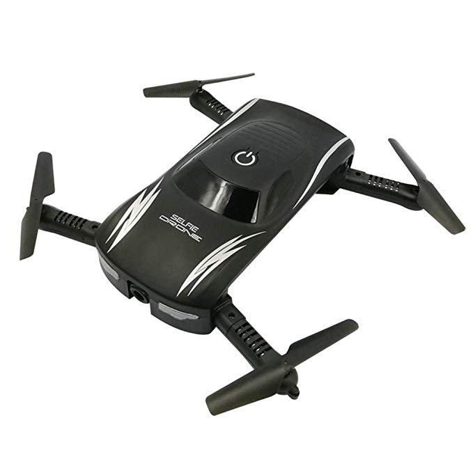 Drone 2017 Mini Pocket Có Thể Gập Lại Folding với HD máy ảnh VS JY018 JJRC H37 Elfie Điều Khiển Bằng