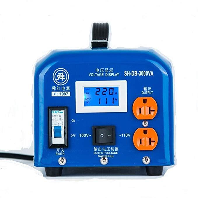 Blush biến áp điện chân 3000 Wát 220 V lần lượt 110 V 220 V biến 100 V màu xanh