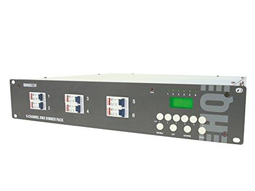 HQ Power VDPDP134D 2000 W 6 kênh DMX Dimmer Set với màn hình LCD