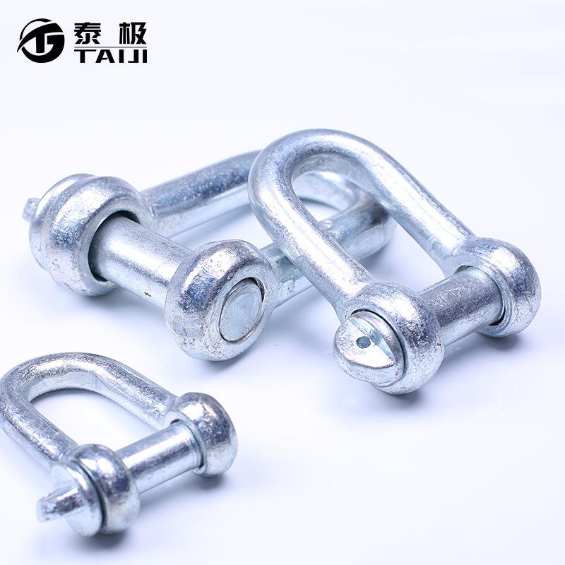 TAIJI Ma-ní GB nâng còng nâng khóa hình chữ U khóa chữ D kết nối khóa D khóa công cụ nâng cần cẩu