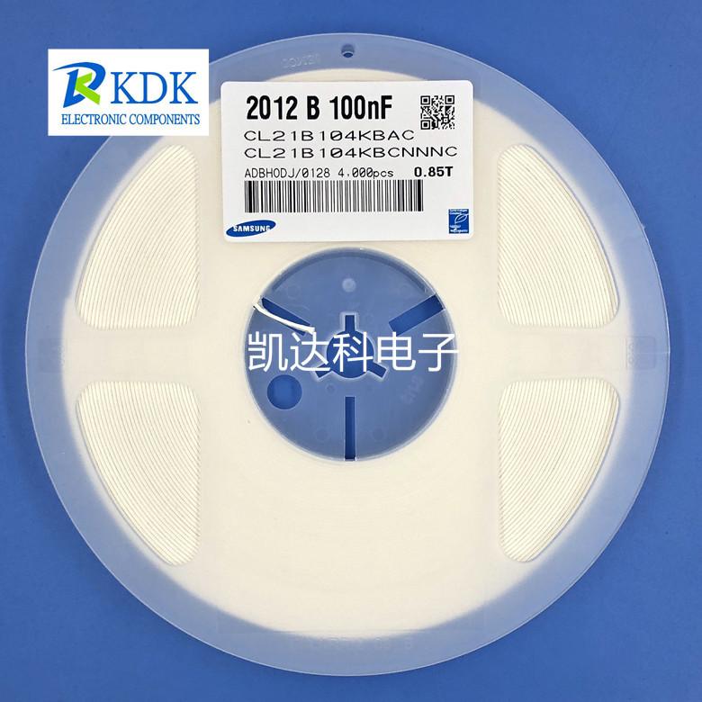 Samsung Tụ Ceramic Chip Tụ 0805 100NF 0.1UF 50V X7R 10% Samsung CL21B104KBCNNNC