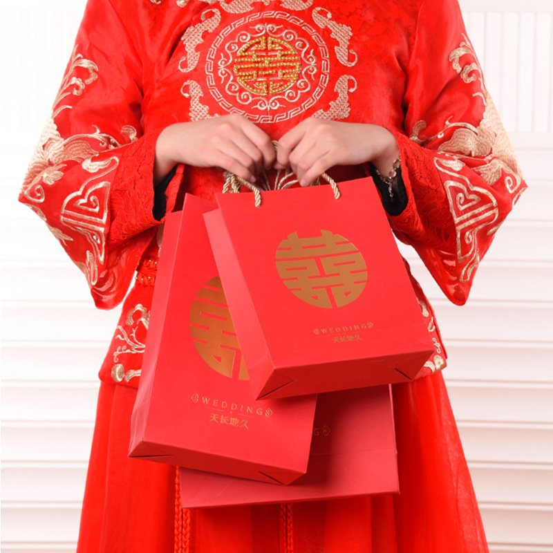 Kết hôn Khánh đồ tay đỏ túi đồ hộp kẹo mừng túi quà kẹo mừng đám cưới Trung Quốc phong kẹo mừng đáp