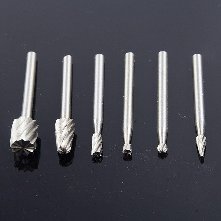 SIJU Dao phay Gia công gỗ quay Dao khắc gỗ Dao phay dao cắt Phụ kiện mài điện Đặt rãnh khắc (bộ 6)