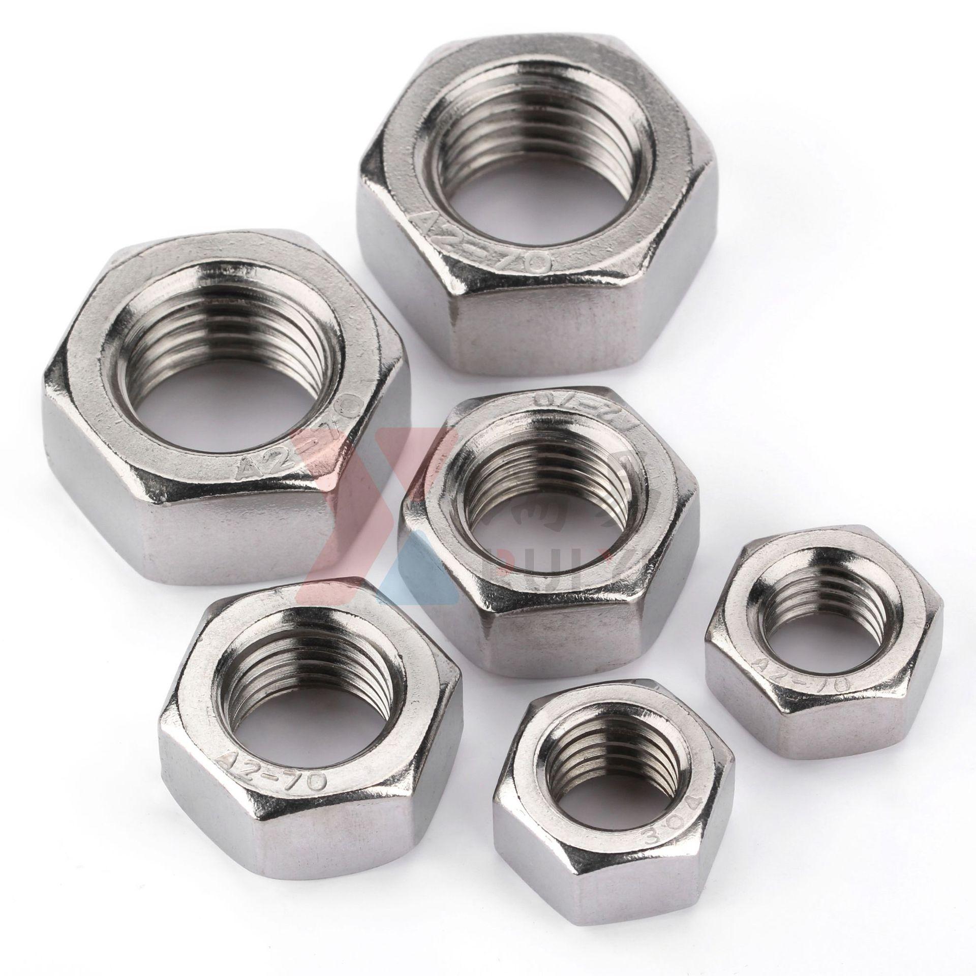 RUIYI Tán Giá thép không gỉ 304 đai ốc bằng thép không gỉ A2 nắp vặn DIN934 hex nut M1.2M1.6-M36