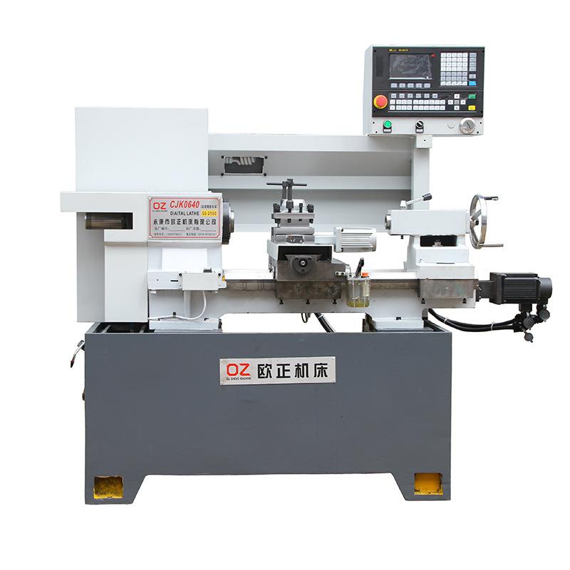 OUZHENG Máy tiện CNC CJK0640AC-L máy công cụ nhỏ điểm điều khiển tuyến tính chính xác ngang Máy điều