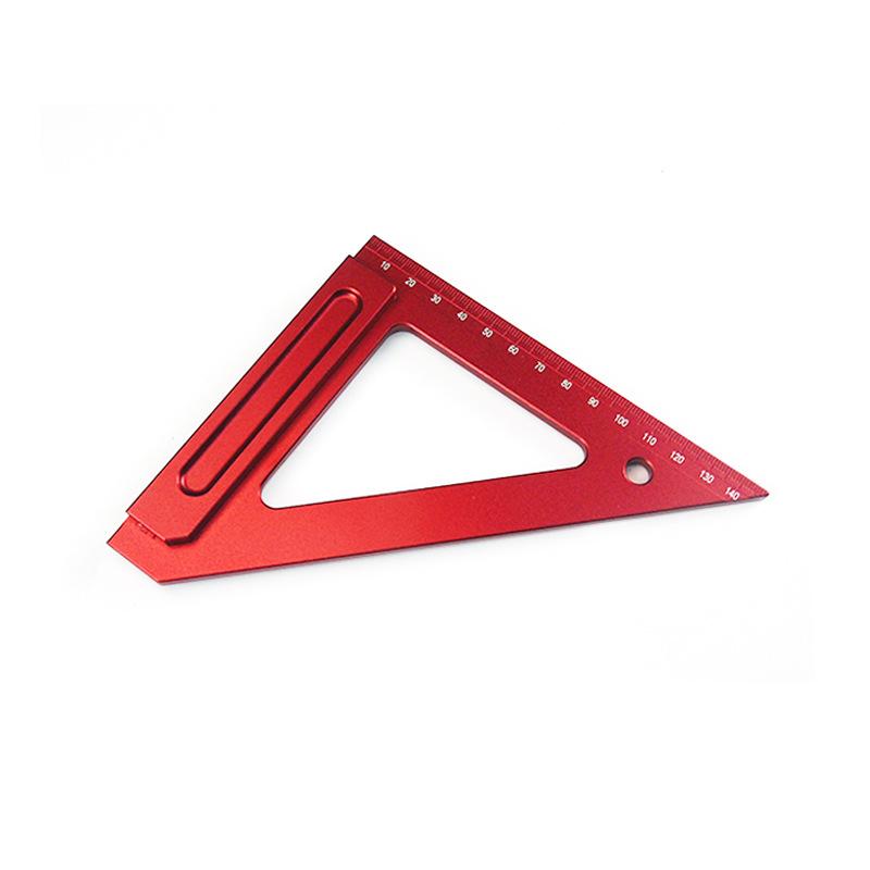 FENGSEN Dụng cụ đo lường 150MM hợp kim nhôm tam giác thước gỗ chế biến tam giác thước vuông thước gỗ