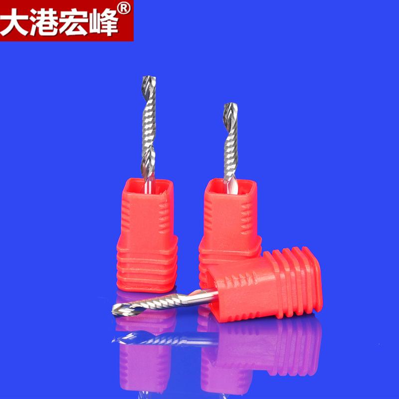 DGHF Dao phay 3.175 nanomet siêu mài mòn mài dao lưỡi dao phay xoắn ốc acrylic PVC dao khắc không da
