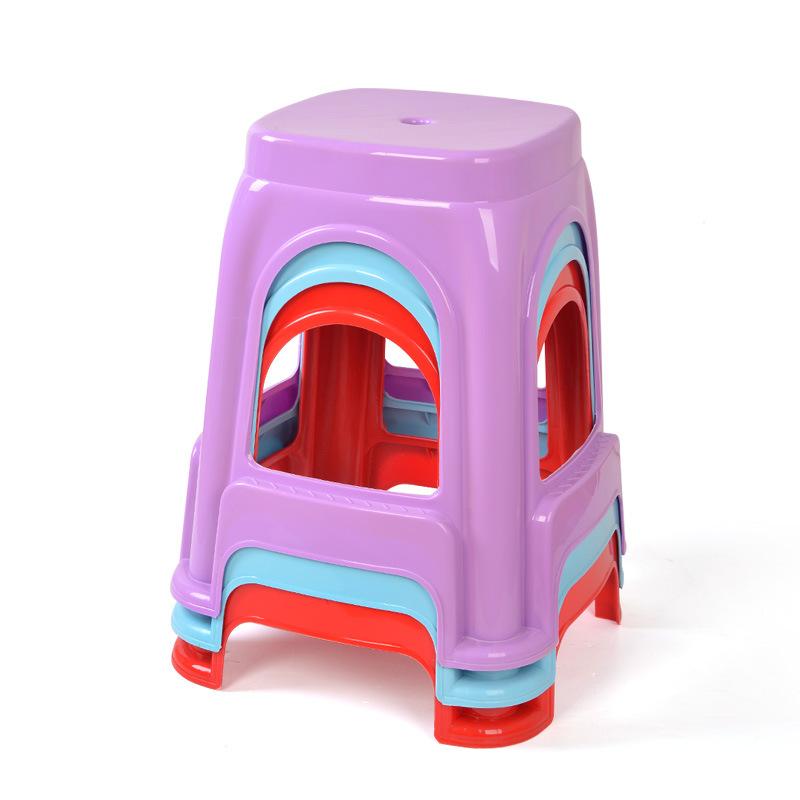 HUINA Đồ dùng gia dụng Phân nhựa đơn giản thân thiện với môi trường Ghế nhựa màu kẹo dùng trong nhà