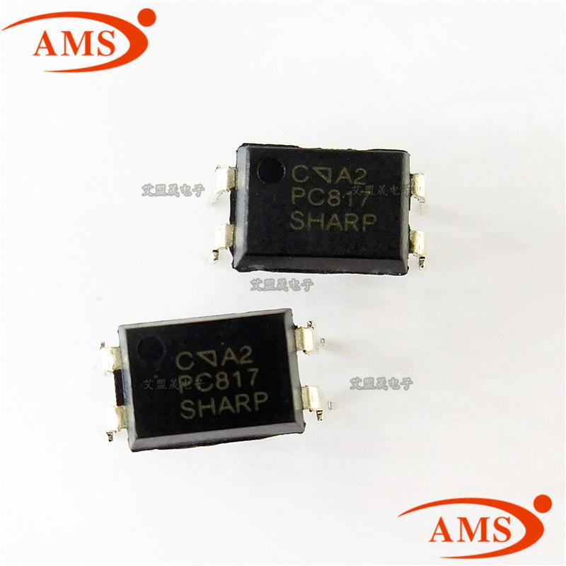 Thiết bị điện quang PC817C 817C DIP-4 Inline 4 Pin Bộ ghép nối sắc nét PC / Điểm mới sắc nét