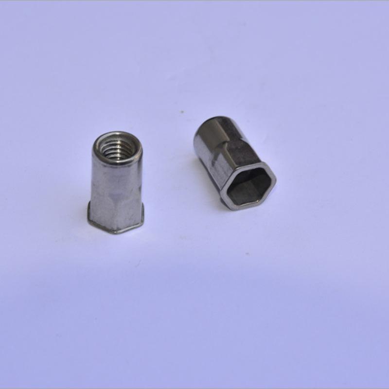 HONGGU Tán Nhà máy trực tiếp bằng thép không gỉ đầu nhỏ hex đinh tán nut 316 cường độ cao hình trụ k
