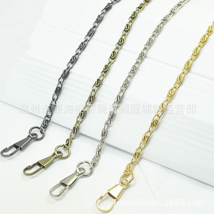 Vật liệu kim loại Nhà sản xuất cung cấp gói vàng vật liệu gói kim loại chuỗi phụ kiện chuỗi túi dài
