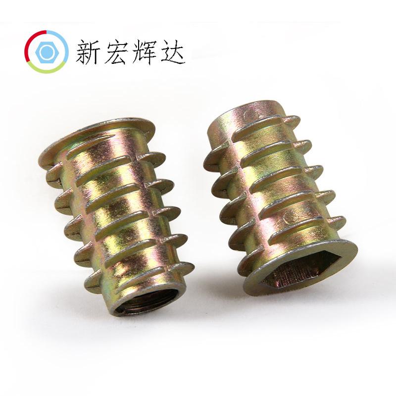 XHHD Tán Kẽm hợp kim bên trong và bên ngoài đai ốc ốc vít phụ kiện đồ nội thất hex nut nut hình than