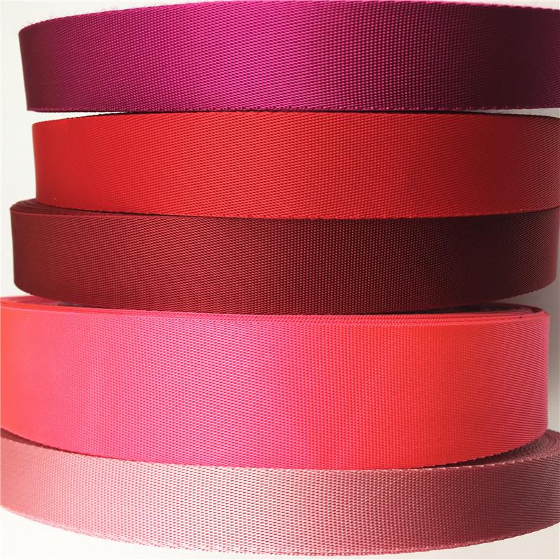 DUOBO đai dệt Màu đỏ dày đặc vải giả nylon tại chỗ Quảng Đông Thâm Quyến nhà sản xuất vải tùy chỉnh