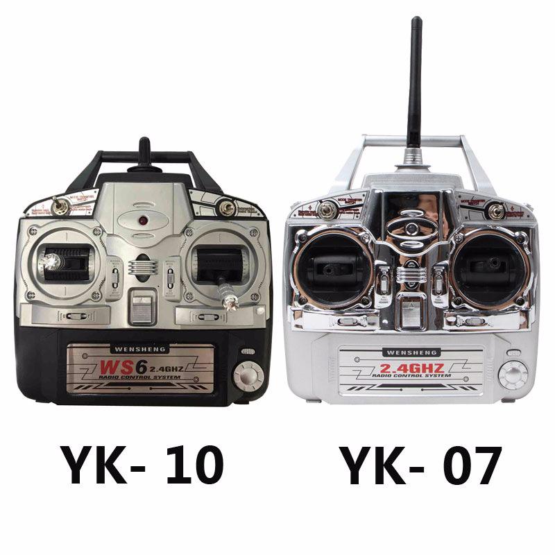 Máy bay phun thuốc trừ sâu điều khiển từ xa Wensheng WSYK-07 2.4g sáu điều khiển từ xa 6 kênh YK-10S