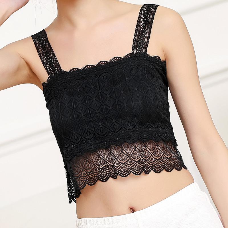 YASIDUO Dây treo trang phục Mùa hè phiên bản Hàn Quốc của ống ren hình kim cương hàng đầu quấn ngực