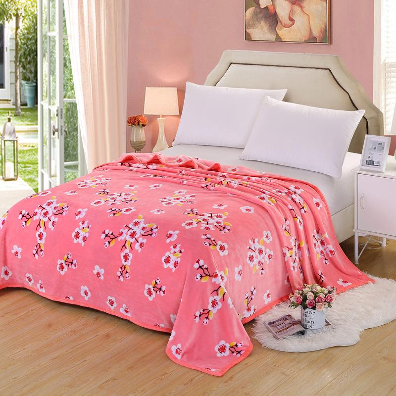 Bộ Drap chăn giường chất liệu vải nhung