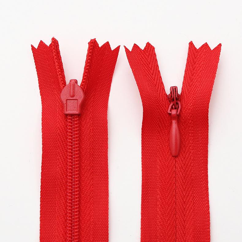 RH Dây kéo Nylon Bán buôn vải cạnh nylon dây kéo vô hình Tùy chỉnh gối đệm nhà dệt gối váy vô hình d
