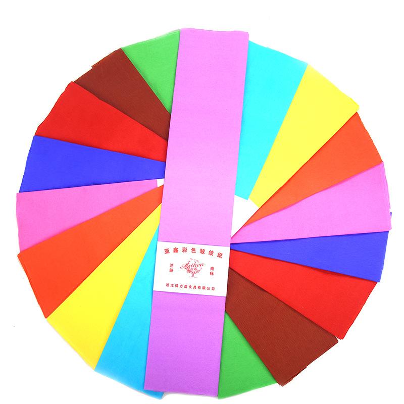 BAIFEI Nguyên liệu sả xuất giấy Giấy crepe màu giấy thủ công môi trường mẫu giáo bố trí trẻ em sáng