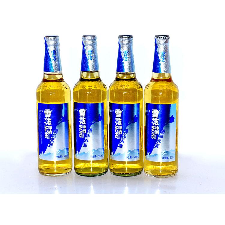 Bia đóng chai 500ml thương hiệu SNOW.