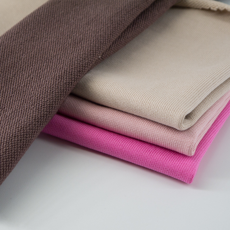 DINGSHENG Vải French Terry (Vấy cá) 26s vải len cotton 380g vải dệt kim cotton mùa thu và mùa đông v