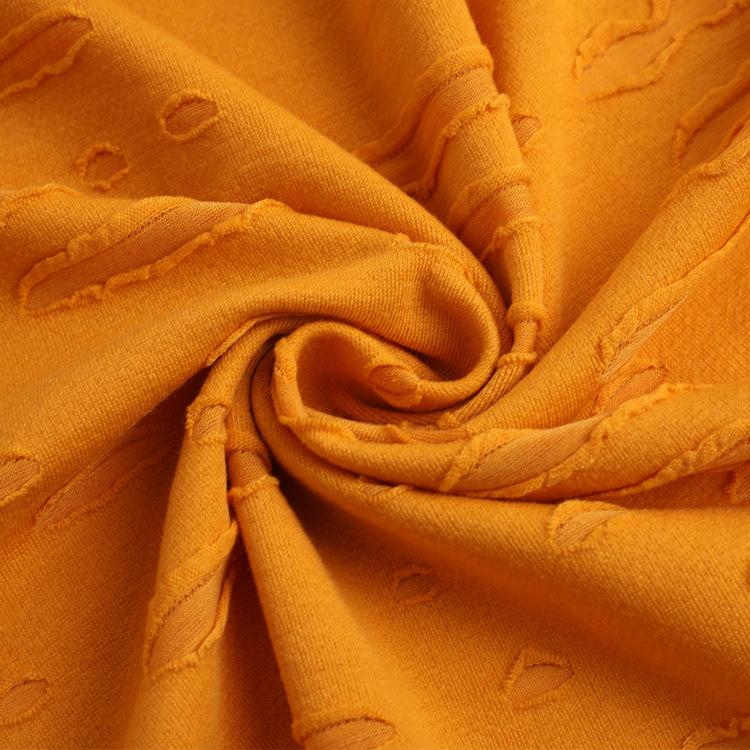 BENHOU Vải French Terry (Vấy cá) 32S polyester cotton lớn terry áo len vải 230g nụ cười mở terry áo