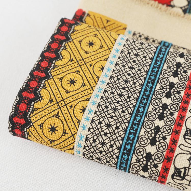 MEILIHUA Vải Chiffon & Printing Vải cotton 12A Vải in Quốc gia gió đồng bằng Vải nhà dệt túi vải Hỗ