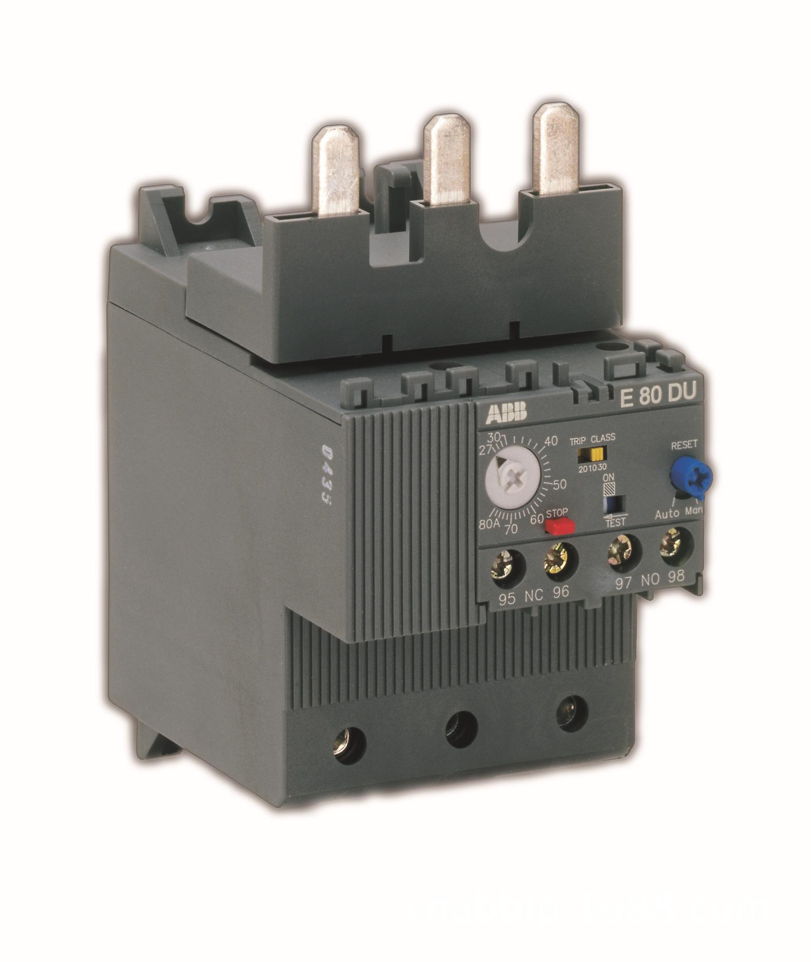 Rơ le nhiệt điện tử bảo vệ quá tải ABB (27-80A) - E80DU-80.