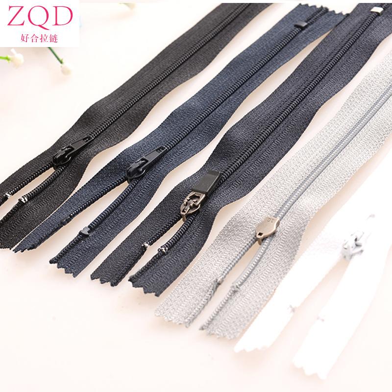 ZQD Thị trường phụ kiện [Bảo hành] Số 3 nylon khóa kéo đóng cửa Khóa kéo túi quần Kéo siêu mịn và có