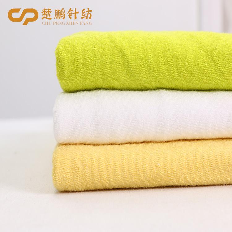 Ainear Vải French Terry (Vấy cá) Vải cotton một mặt terry vải tại chỗ sợi dệt kim polyester-cotton t