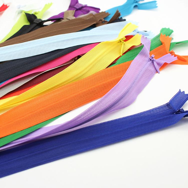 SBS Dây kéo Nylon Nhà sản xuất số 3 SBS dây kéo vô hình Đóng chăn che vải bên nylon dây kéo Đầm ren