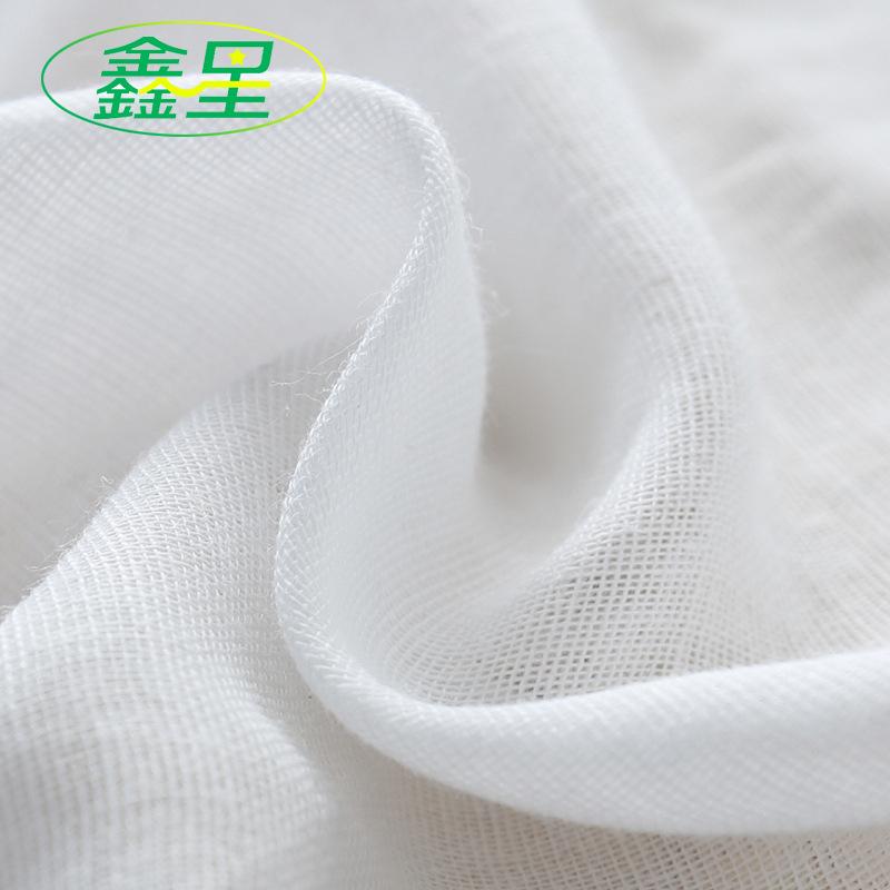 XINXING Vải Cotton mộc Nhà sản xuất cổ phiếu bông gạc hai lớp bông gạc trẻ em bán buôn vải bông dệt
