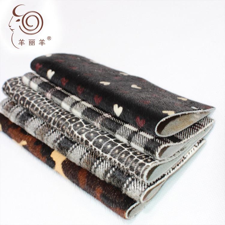 Yang Li Yang Da ngựa [Yang Li Yang] nhà máy bán buôn in màu lông ngựa cao cấp giày quần áo túi da ng