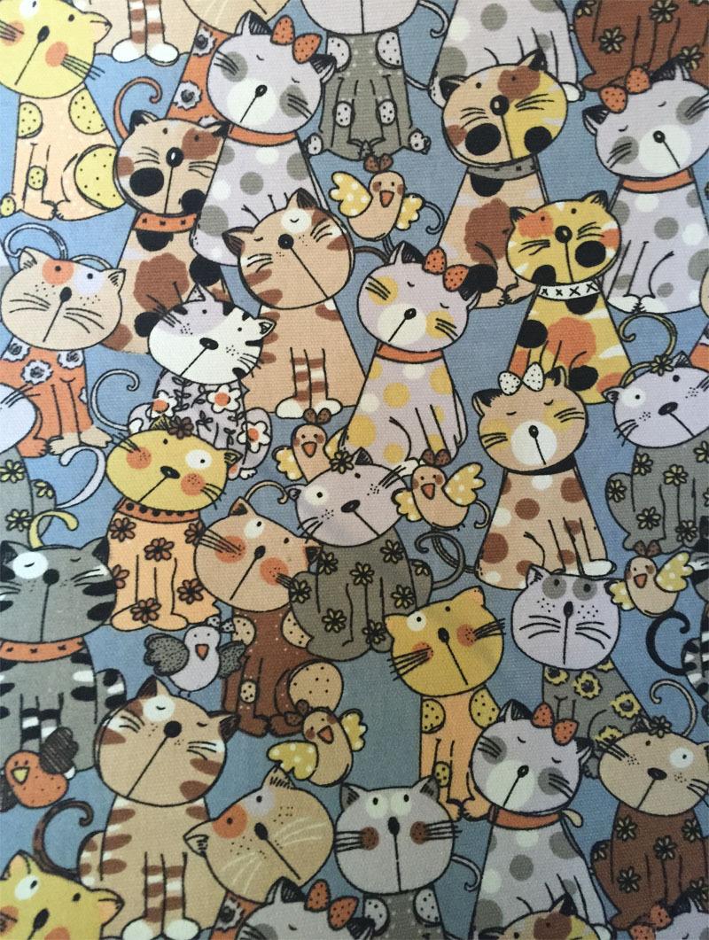Vải Chiffon & Printing Loạt động vật, mô hình vụ nổ, vải in 12 inch, mèo lớn, túi xách, túi xách, vv