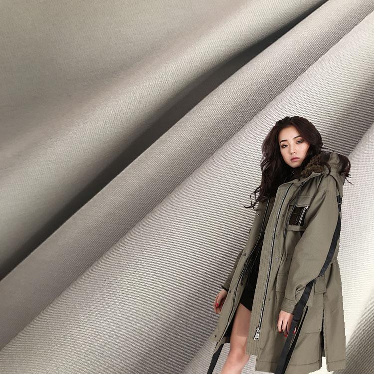 Vải cotton pha polyester Sản phẩm mới đẩy 75D21S3 / 2 twill polyester-cotton pha vải twill áo khoác