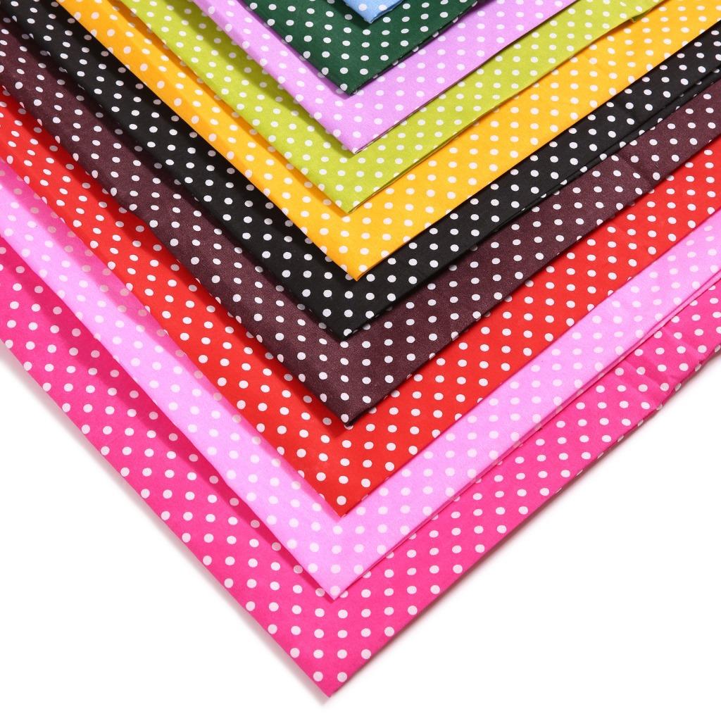 WAIYU Vải dệt may polyester mới, vải dệt, vải in chấm.