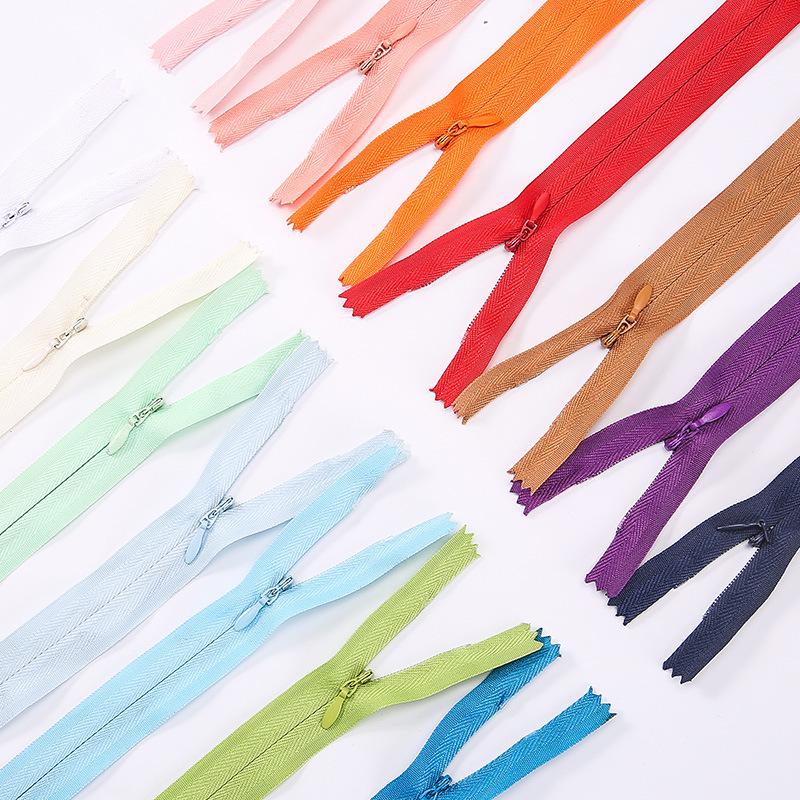 BKK Dây kéo Nylon 3 # ren cạnh vải nylon cạnh dây kéo vô hình tùy chỉnh bảo vệ môi trường không huỳn