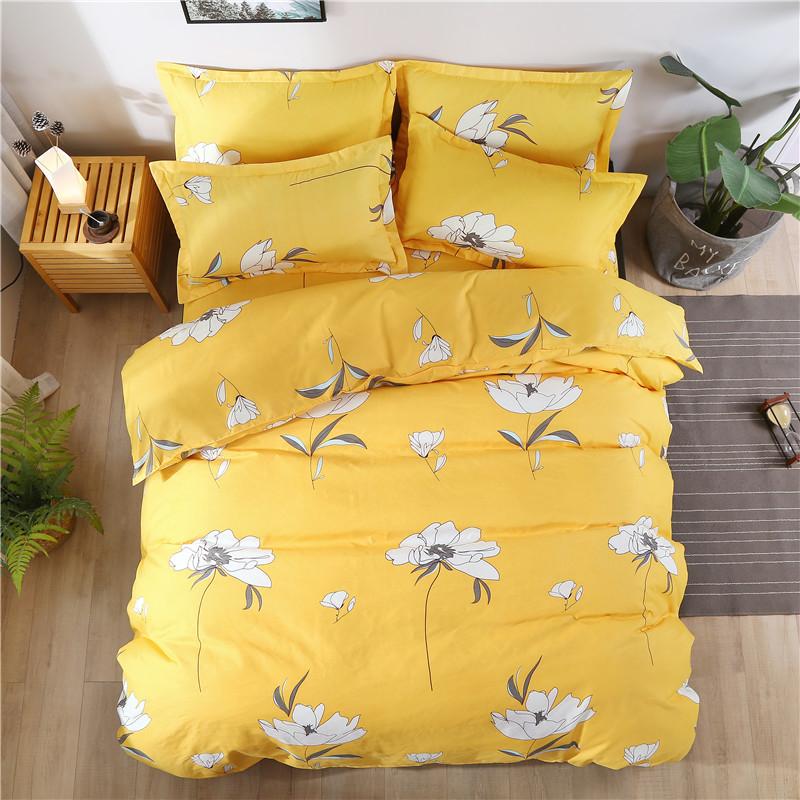 Shuxing  Bộ Drap giường chất liệu vải cotton họa tiết hiện đại .