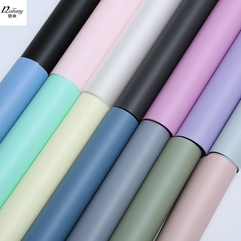 NISHANG Nguyên liệu sả xuất giấy Giấy gói hoa neon Giấy đơn sắc mờ mờ Giấy chống thấm giấy bóng kính